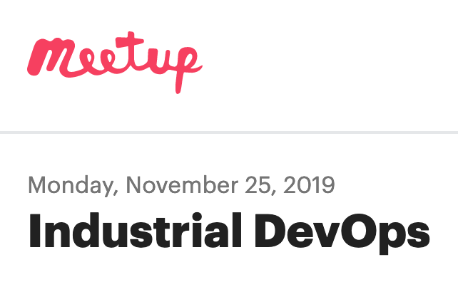 Industrial DevOps Meetup